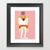 Space Ghost. Framed Art Print