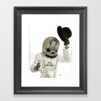 Clockwork Calavera Framed Art Print