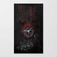 Hey there little red riding hood! Canvas Print