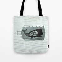 Whale In A Bottle | Ship… Tote Bag