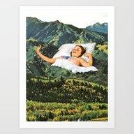 Rising Mountain Art Print