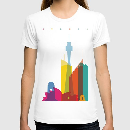 Shapes of Sydney. Accurate to scale T-shirt