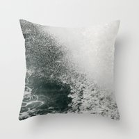 Maine Ferry Wake Throw Pillow