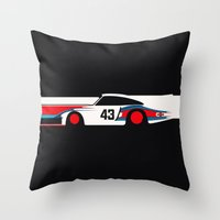 Moby Dick - Vintage Porsche 935/70 Le Mans Race Car Throw Pillow