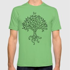Shirley's Tree BW Mens Fitted Tee Grass SMALL
