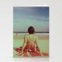 Beach Days, Polaroid Stationery Cards