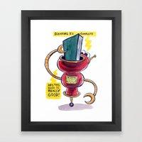 The Book-Reading Robot Framed Art Print