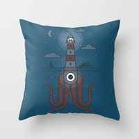 Sea Sentinel Throw Pillow