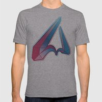 LETTER V Mens Fitted Tee Athletic Grey SMALL