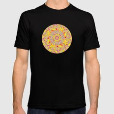 Psychedelic SMALL Mens Fitted Tee Black