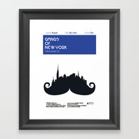 Gangs of New York Minamalist B Framed Art Print