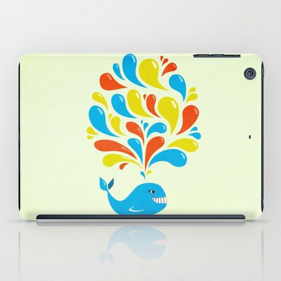 Colorful Swirls Happy Cartoon Whale iPad Case