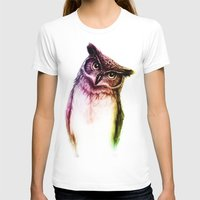 The wise Mr. Owl Womens Fitted Tee White SMALL