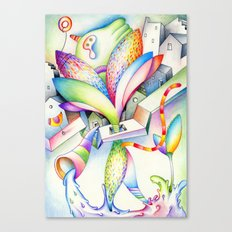 city bird Canvas Print
