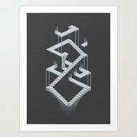 Monument Maze 2 Art Print
