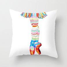 Doodling Ballet Throw Pillow