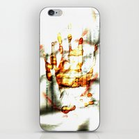 Trace of the hand iPhone & iPod Skin