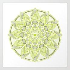 Green Circle Pattern Art Print