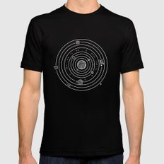 SOLAR SYSTEM Mens Fitted Tee SMALL Black