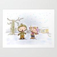 Winter's Fun!!! Art Print