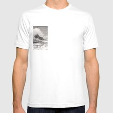 Angry Sea I White Mens Fitted Tee SMALL