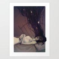 Art Print featuring Sleep Paralysis by Lenka Simeckova
