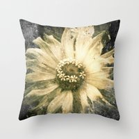 A Flower Throw Pillow