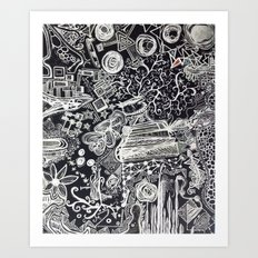 White/Black #2  Art Print