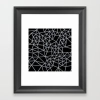 Segment Grey and Black Framed Art Print