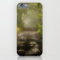 iPhone & iPod Case featuring Misty Woodland Lane II by John Dunbar