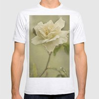Vintage Rose Mens Fitted Tee Ash Grey SMALL