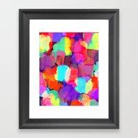 Brushstroke Framed Art Print