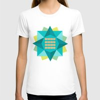 Abstract Lotus Flower - … Womens Fitted Tee White SMALL