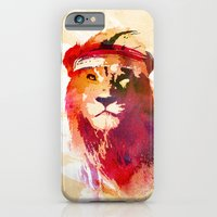 iPhone & iPod Case featuring Gym Lion by Robert Farkas