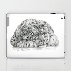 Pensive Snow Leopard  Laptop & iPad Skin