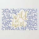 Wild at Heart – Navy & Gold Rug