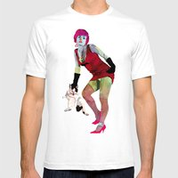El gato Mens Fitted Tee White SMALL