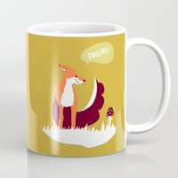 party animals - english fox Mug