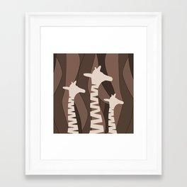 Framed Art Print - Abstract Giraffe Family  - oursunnycdays