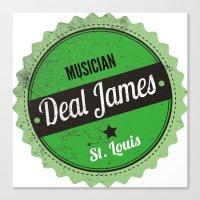 Deal James, Round Sticke… Canvas Print