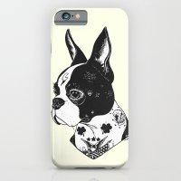 Dog - Tattooed BostonTerrier iPhone 6 Slim Case