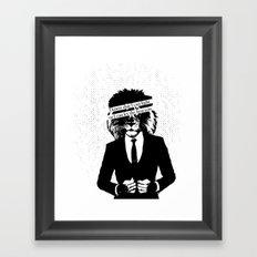 Let the lion win Framed Art Print
