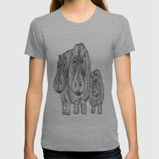 Hippos Womens Fitted Tee Athletic Grey SMALL
