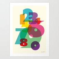 123 in colors Art Print