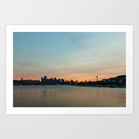 seattle Art Prints featuring Seattle by Tracy Wong