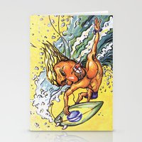 Brazilian Surf Boy Stationery Cards