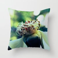 Disheveled flower Throw Pillow
