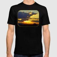 Sunset Splendor Mens Fitted Tee Black SMALL