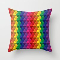 Color Me a Rainbow Throw Pillow
