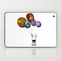 Planet balloon girl Laptop & iPad Skin